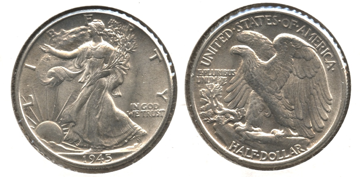1945 Walking Liberty Half Dollar MS-62 #a