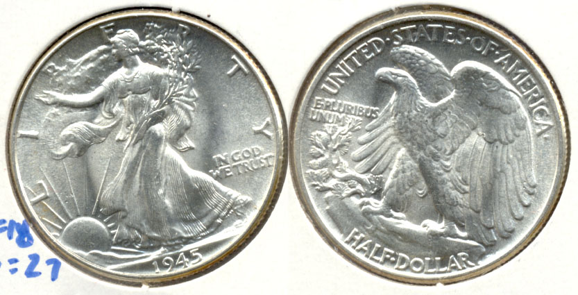 1945 Walking Liberty Half Dollar MS-63 c