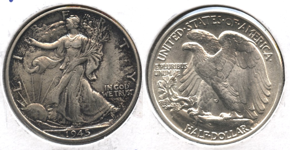 1945 Walking Liberty Half Dollar MS-64