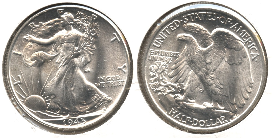 1945 Walking Liberty Half Dollar MS-64 #a