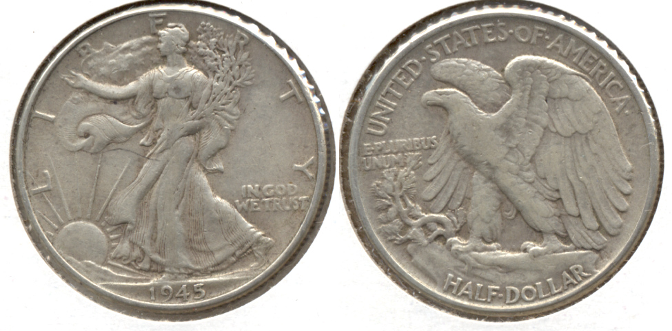 1945 Walking Liberty Half Dollar VF-20