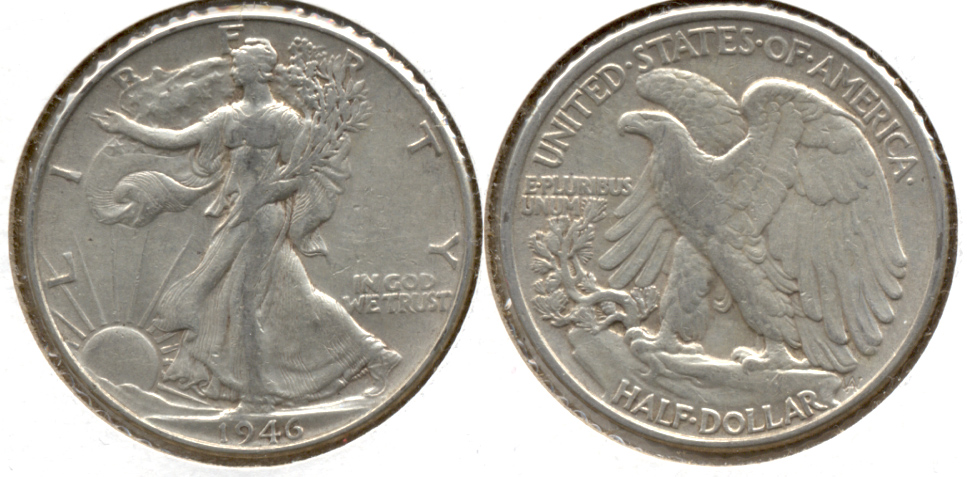1946 Walking Liberty Half Dollar EF-40 a