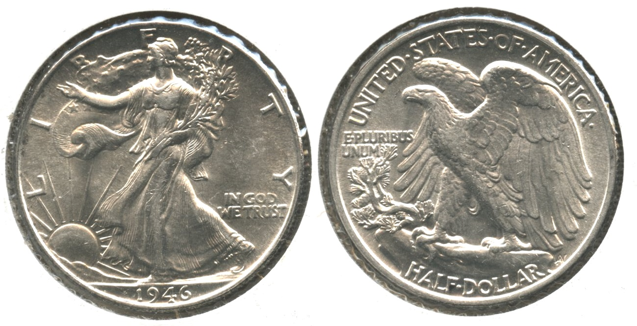 1946 Walking Liberty Half Dollar MS-63 #e