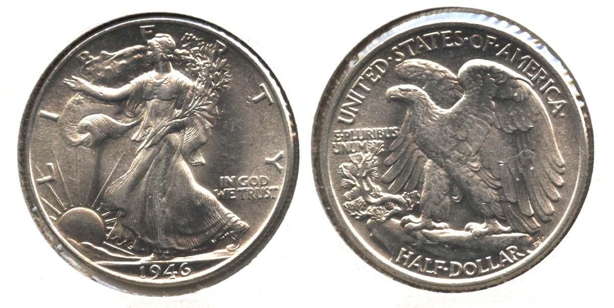 1946 Walking Liberty Half Dollar MS-64 #d