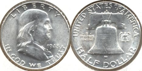 1948-D Franklin Half Dollar MS-60