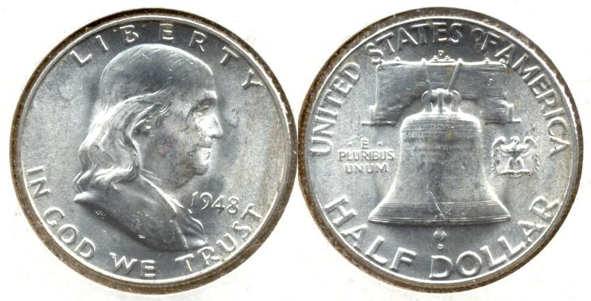 1948-D Franklin Half Dollar MS-60 b