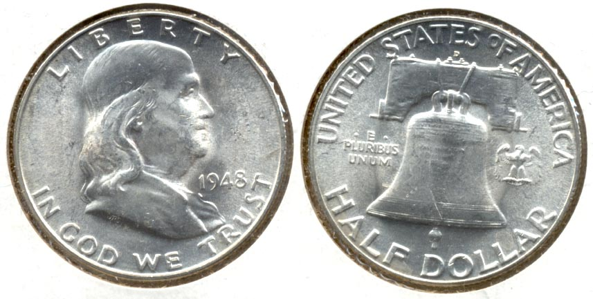 1948-D Franklin Half Dollar MS-60 j