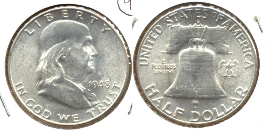 1948-D Franklin Half Dollar MS-60 n