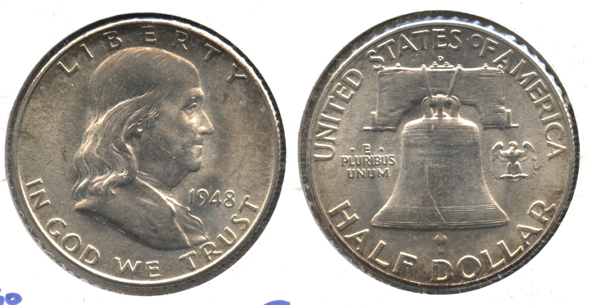 1948-D Franklin Half Dollar MS-60 #q