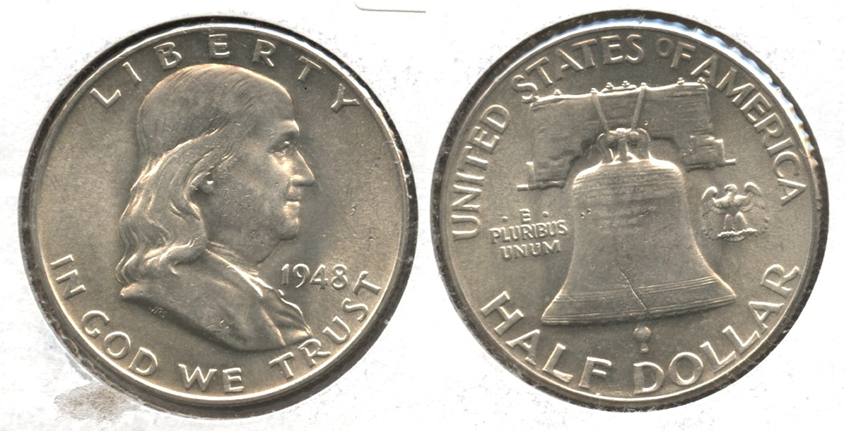 1948 Franklin Half Dollar AU-55 #f