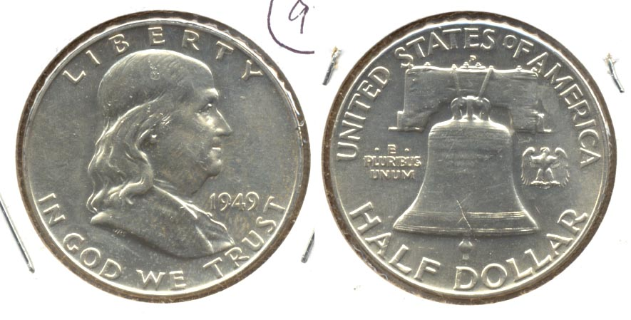 1949-D Franklin Half Dollar AU-50 h