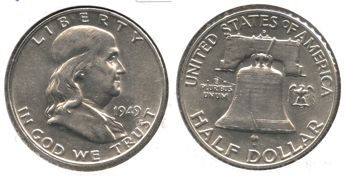 1949-D Franklin Half Dollar AU-50 #j
