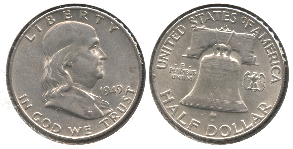 1949-D Franklin Half Dollar AU-50 #k