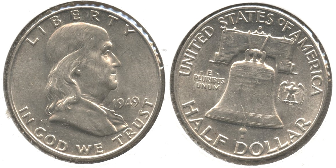 1949-D Franklin Half Dollar AU-50 #l