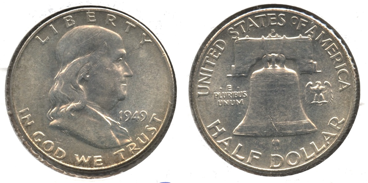 1949-S Franklin Half Dollar MS-60 #a