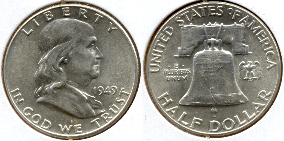 1949 Franklin Half Dollar AU-50 ad