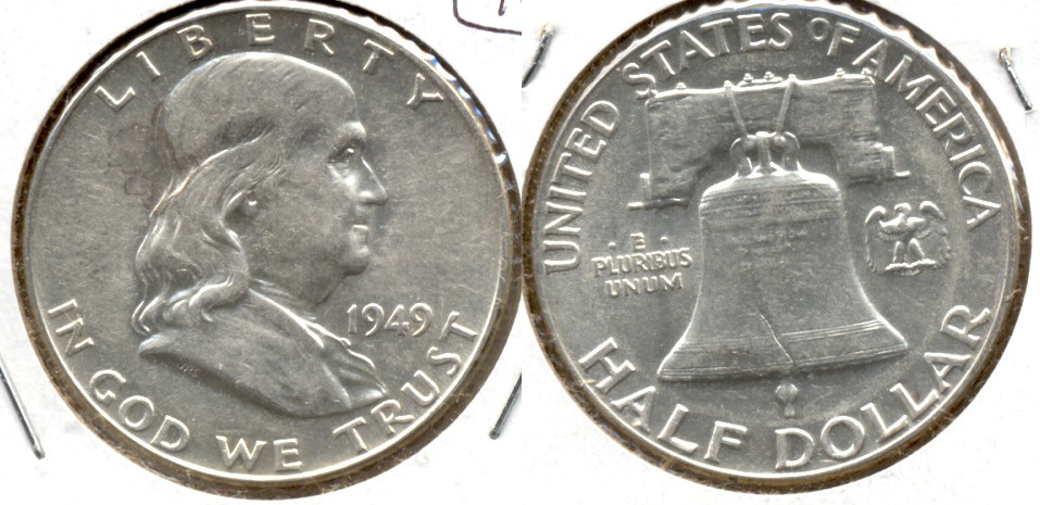 1949 Franklin Half Dollar AU-50 an