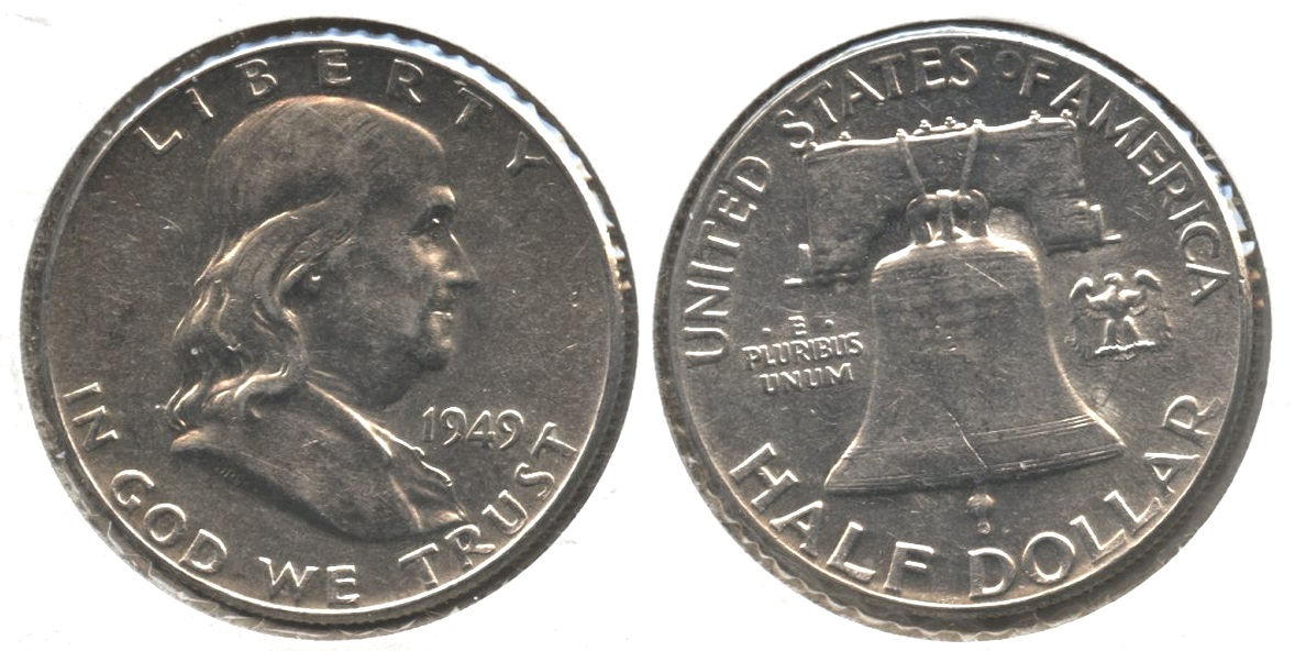 1949 Franklin Half Dollar AU-50 #bb