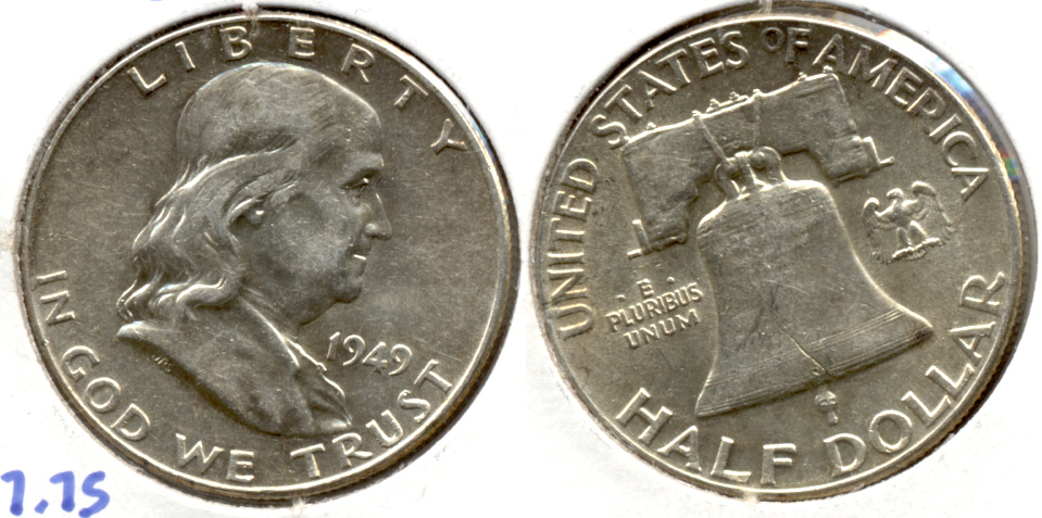 1949 Franklin Half Dollar AU-50 g