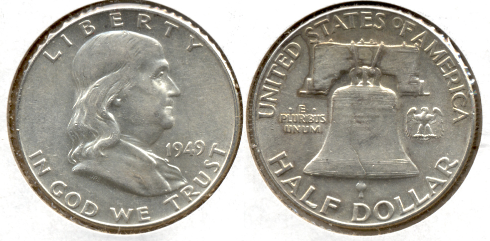 1949 Franklin Half Dollar AU-50 q