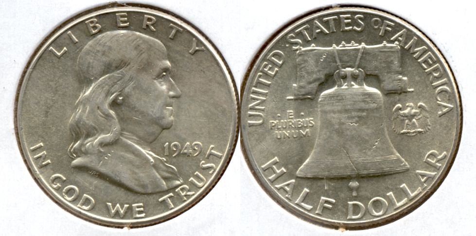 1949 Franklin Half Dollar AU-50 x
