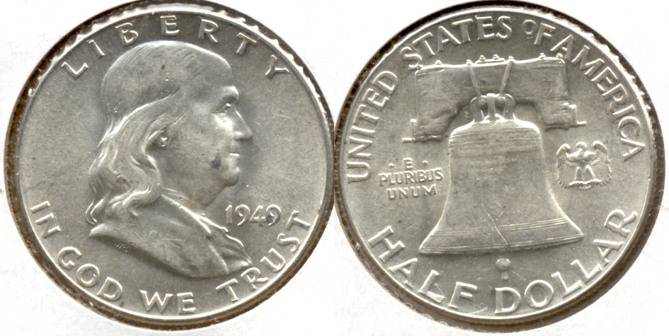 1949 Franklin Half Dollar AU-55 f