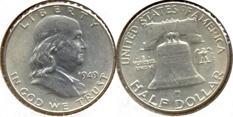 1949 Franklin Half Dollar AU-55 n
