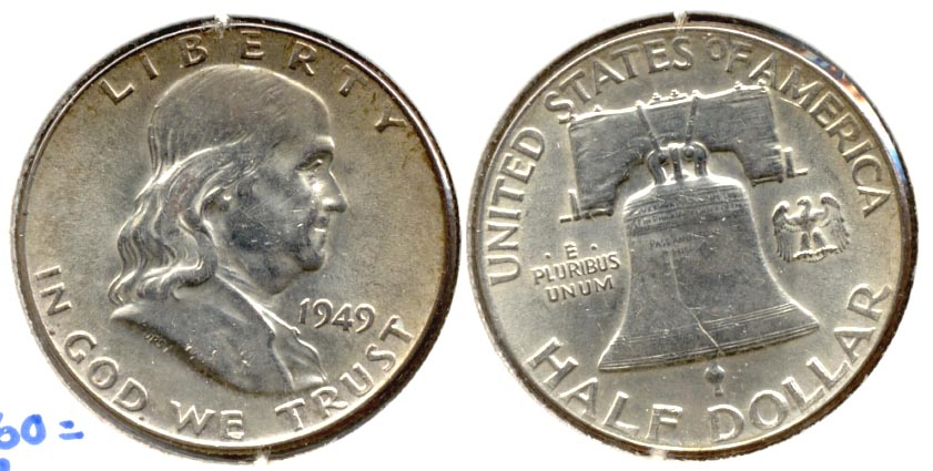 1949 Franklin Half Dollar MS-60 c