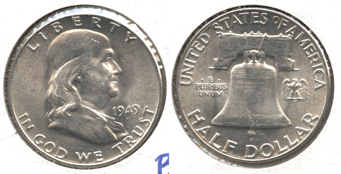 1949 Franklin Half Dollar MS-60 #f