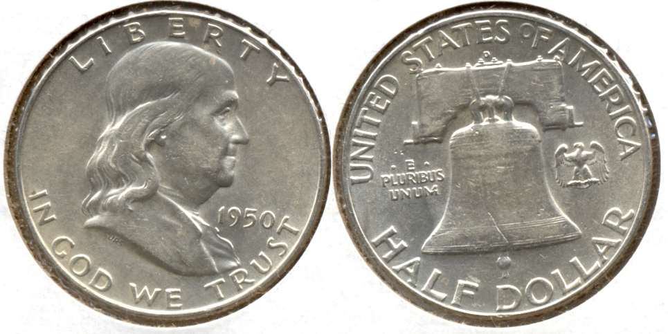 1950-D Franklin Half Dollar AU-50 q