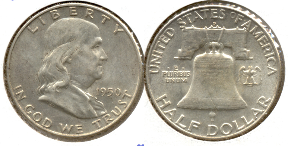 1950-D Franklin Half Dollar AU-50 s
