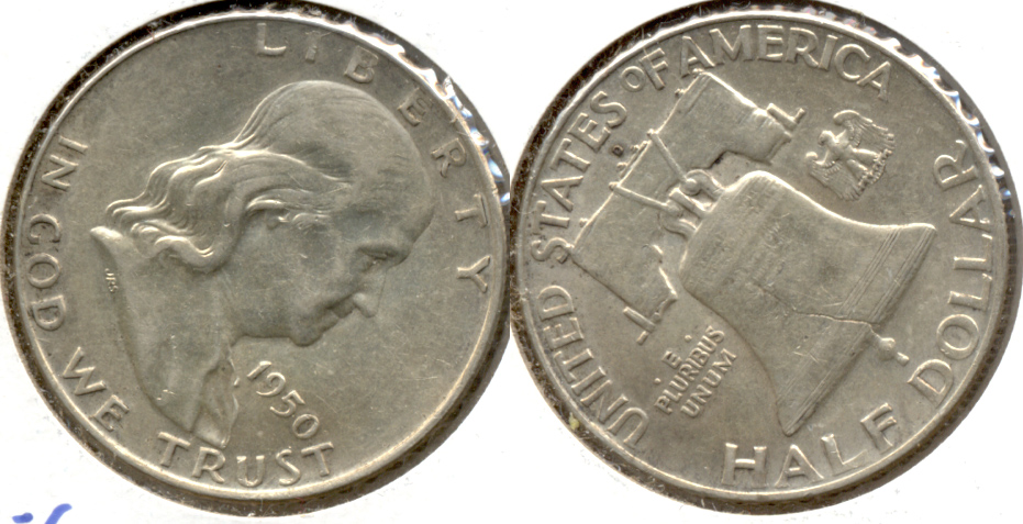 1950-D Franklin Half Dollar AU-50 w