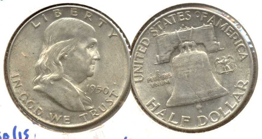1950-D Franklin Half Dollar AU-55 e