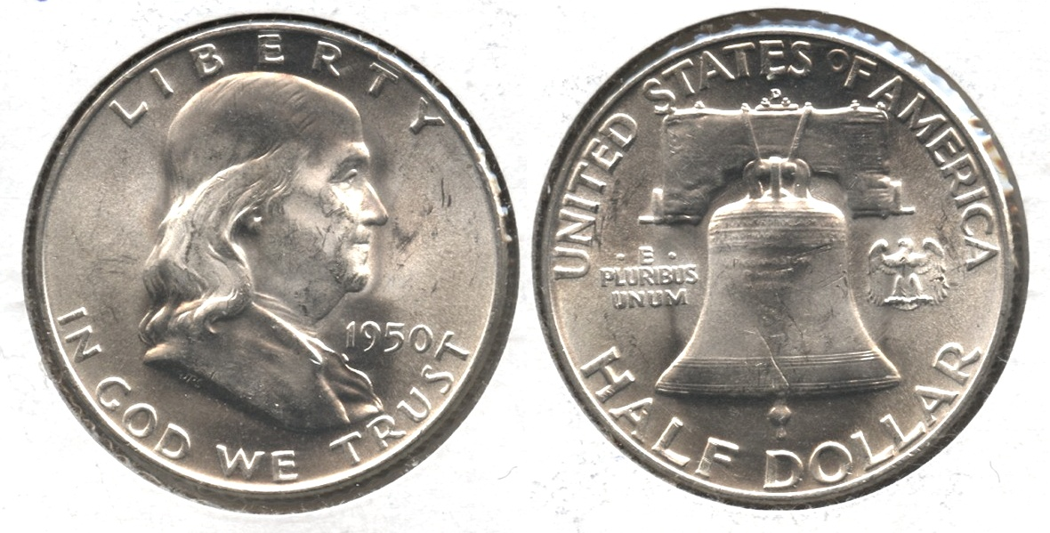 1950-D Franklin Half Dollar MS-60 #j