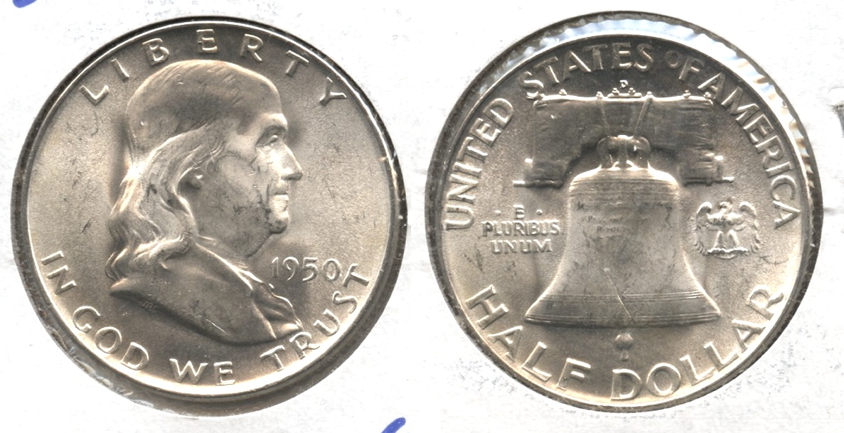 1950-D Franklin Half Dollar MS-63 #f