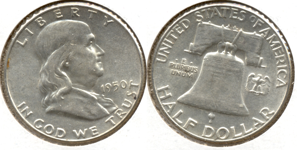 1950 Franklin Half Dollar AU-50 ab
