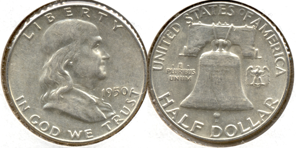 1950 Franklin Half Dollar AU-50 i
