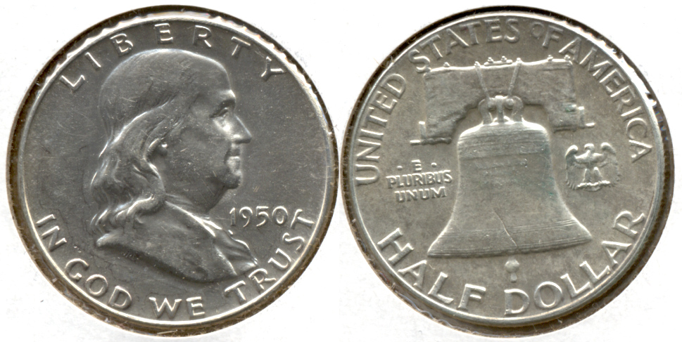 1950 Franklin Half Dollar AU-55