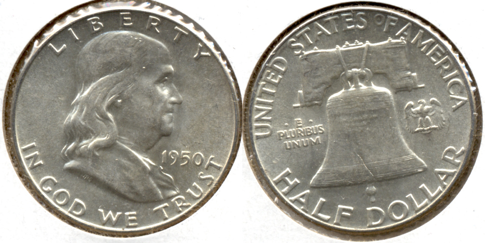 1950 Franklin Half Dollar AU-55 f
