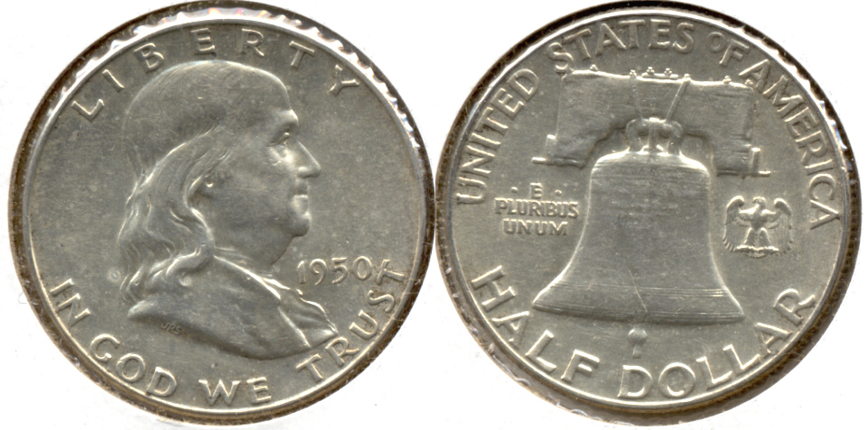 1950 Franklin Half Dollar AU-55 i