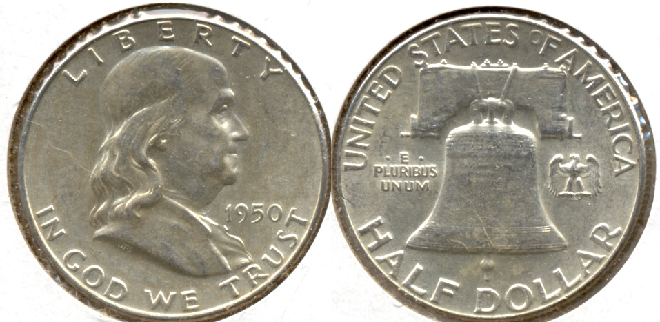 1950 Franklin Half Dollar AU-55 k