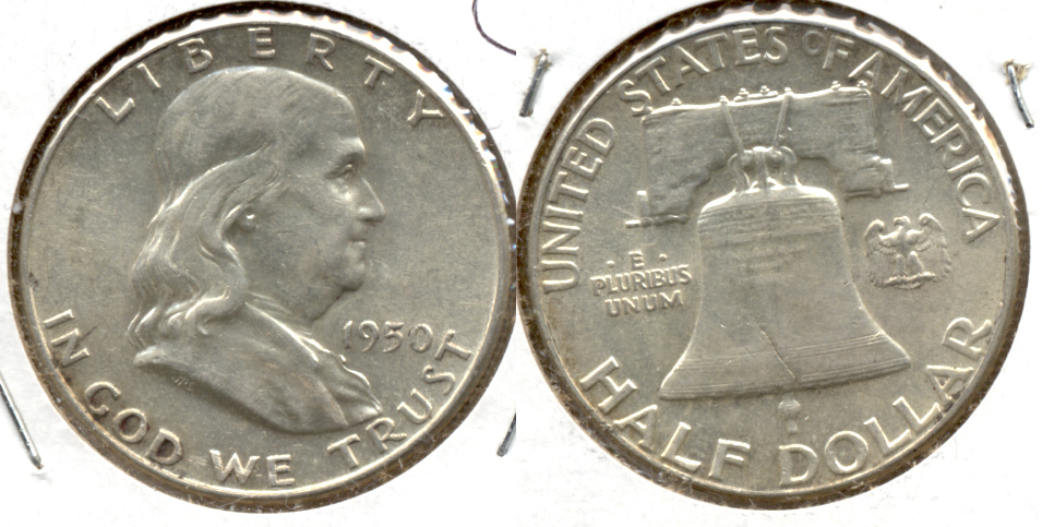 1950 Franklin Half Dollar AU-55 w