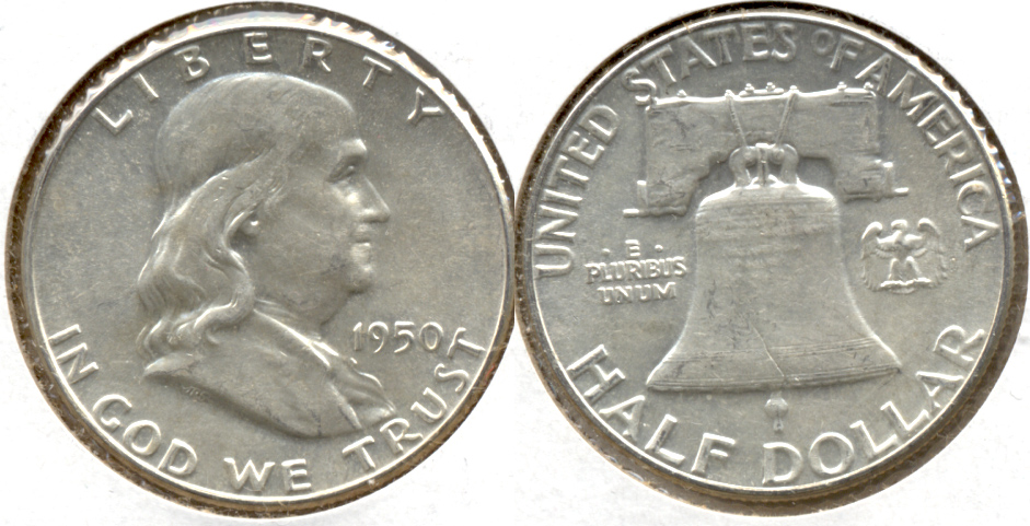 1950 Franklin Half Dollar AU-55 z