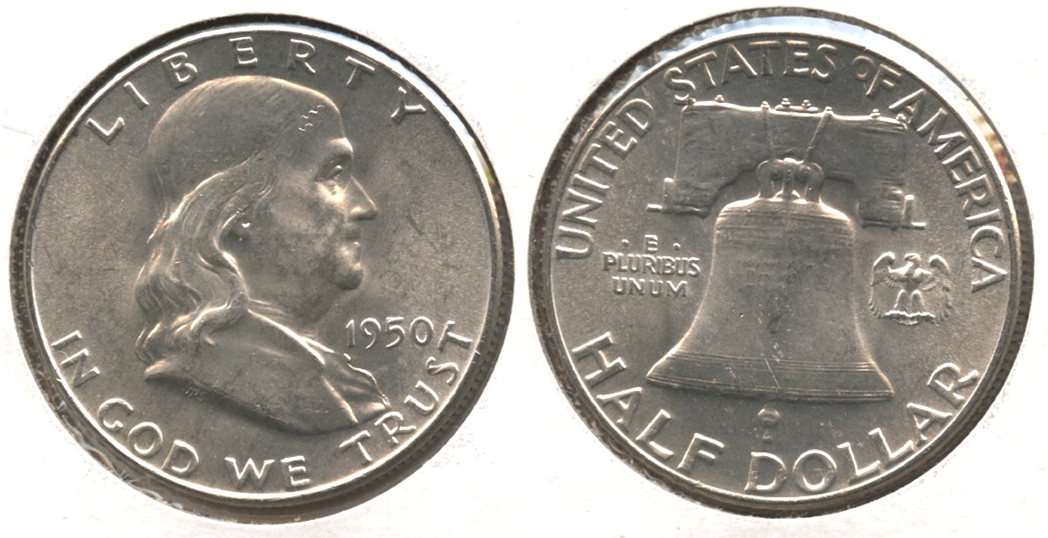 1950 Franklin Half Dollar MS-60 #b