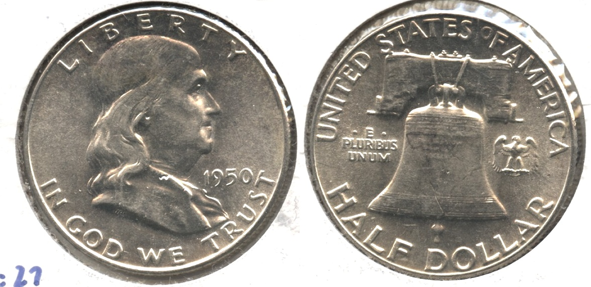 1950 Franklin Half Dollar MS-63 #b