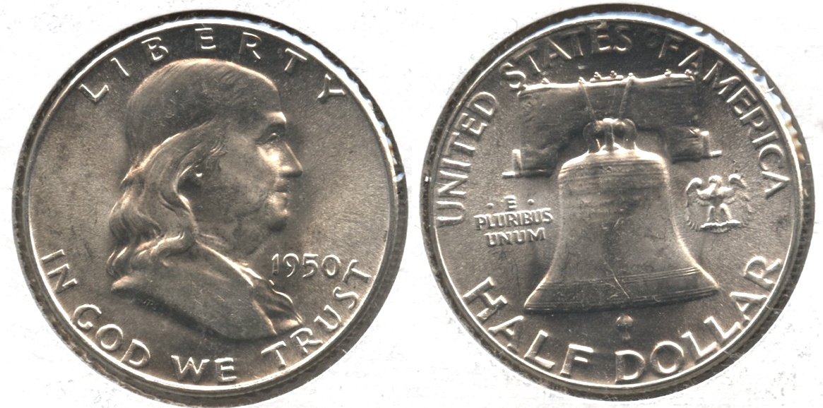 1950 Franklin Half Dollar MS-64 #b