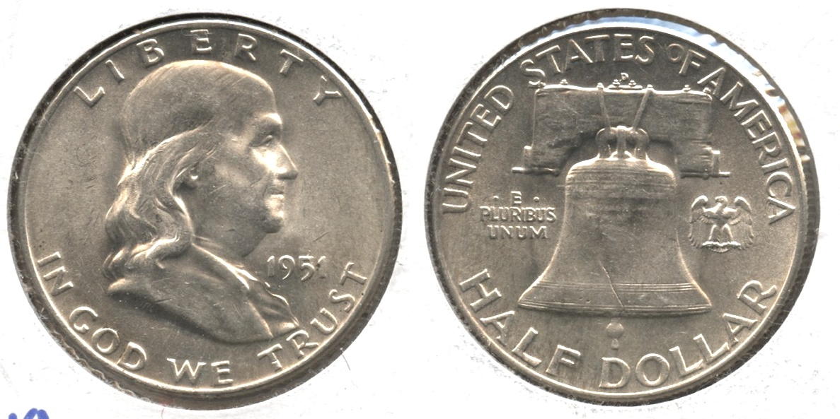 1951-D Franklin Half Dollar AU-55 #a