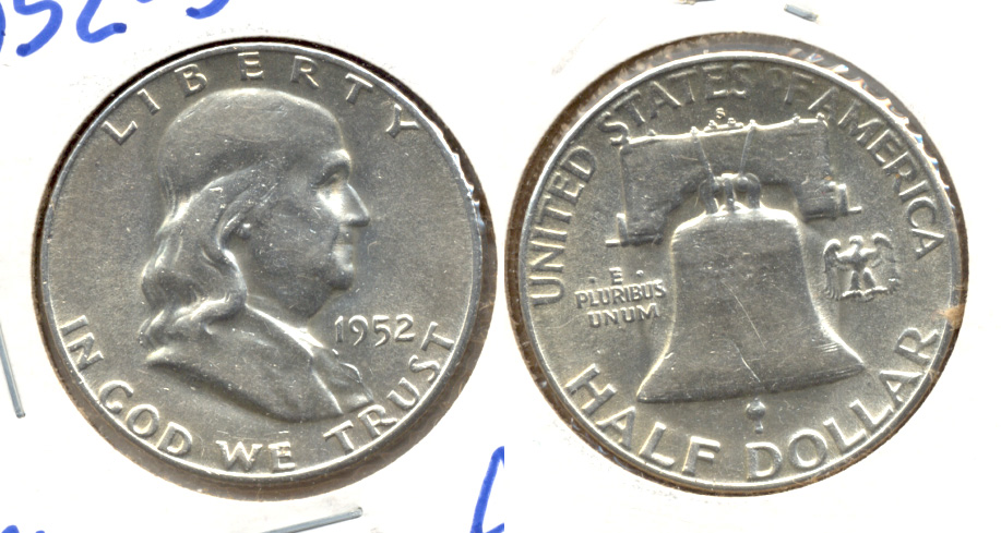 1952-S Franklin Half Dollar AU-50