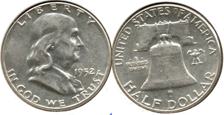 1952 Franklin Half Dollar AU-50 b