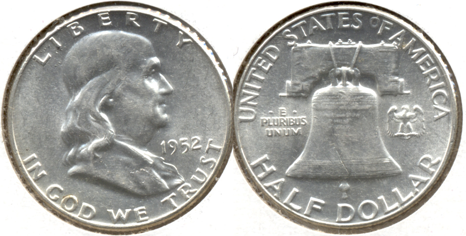 1952 Franklin Half Dollar AU-55 e